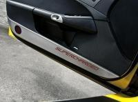 Buy cheap Door Guard-Brushed-Stainless Steel-W/ Carbon Fiber Supercharged Inlay-Colors-Pair-05-13 from wholesalers