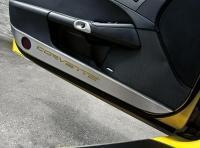 Buy cheap Door Guard-Brushed-Stainless Steel-W/ Carbon Fiber Corvette Inlay-Colors-Pair-05-13 from wholesalers