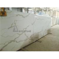 Buy cheap Calacatta Gold Colour Quartz Slabs Marble Pattern Looking Countertops from wholesalers