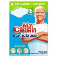 Mr. Clean Magic Eraser Bath Scrubber, 4-Count Pack of 2