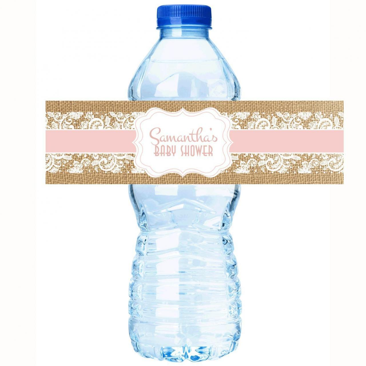 China Personalized Water Bottle Labels - Rustic Baby Shower Collection on sale