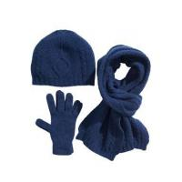 Quality set of wool gloves, hat and scarf (W16) wholesale