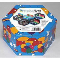 China Starmo Childrens 52 Pcs Craft Art Artists Set Hexagonal Box Crayons Paints Pens Pencils by Starmo on sale