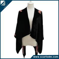 Quality New Stylish Burnout Velvet Knitted Scarves And Wrap wholesale
