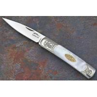 China Acero with Mother of Pearl and Gold with Scroll Engraving on sale