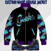Quality Wave Grease Jacket to match Jordan 8 Aqua sneakers wholesale