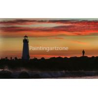 China Canvas prints Lighthouse in sunset pictures on canvas for office decoration on sale