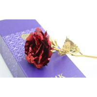 Buy cheap Valentine's Gold Plated Rose with Gift Box and Free Stand from wholesalers