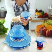 Buy cheap 6PCS/SET KITCHEN SILICONE FRUIT FOOD FRESH COVER SAVER COVERS from wholesalers