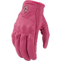China lady pink leather carbon fiber motorcycle gloves motorbike gloves motorcross riding gloves on sale