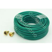 PVC garden hose with copper fitting