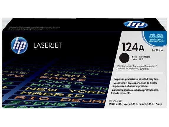 Cheap HP Color Toners HP Q6000A Black Original LaserJet Toner Cartridge 124A for sale