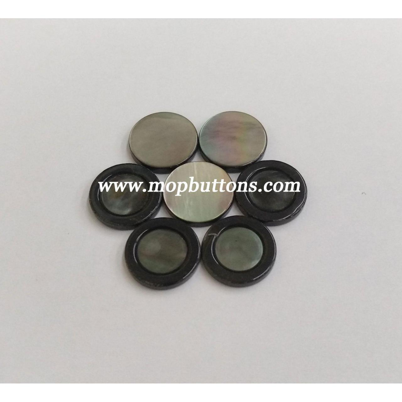 Rainbow Effect Blank Mother of Pearl Shank Decoration Buttons for Blouse