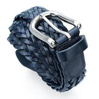 China Mens Braided Leather Belt Pin Buckle Belt for Jeans and Dress - Best Gifts for Young Men and Women on sale