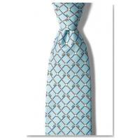 """Quality Apparel """"Real Dentists Wear Plaid"""" Blue and White Silk Necktie wholesale"""