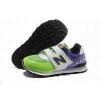 Buy cheap Kids New Balance American KV574GVY Fluorescent Green Purple White from wholesalers