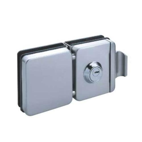 China Manufacturer Of Security Frameless Glass Door Lock With Rotatable Handle