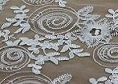 Quality Bridal Lace Fabric W9020 Embroidery bridal dresses lace fabric wholesale