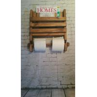 Quality Wooden Magazine Rack with Toilet Paper Holder wholesale