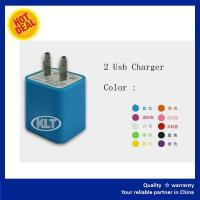 Quality KLT-Mobile Dual 2 USB 3.1A Port US Plug Travel Wall Charger for IPhone 5/5S/6S/6Plus wholesale