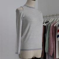 Quality Lady Dew Shoulder Fashion Sweater with Long Sleeves and Half wholesale