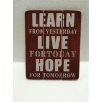 Buy cheap Finished Painting Wall Wooden Plaque from wholesalers