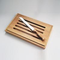 China Acacia Wood Chopping Board With Bread Knife on sale