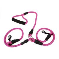 Quality Pet Leash & Collar 2 in 1 Rope Double Dog Leash B281-01 wholesale