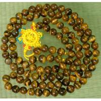 108 Natural Tiger Eye Gem 0.3inch Bead Buddhist Prayer Mala