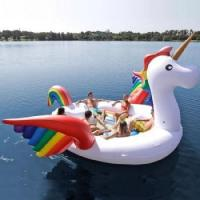 China 6 personal huge inflatable Unicorn party bird island on sale