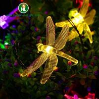 China Dragonfly Solar Outdoor LED String Lights on sale