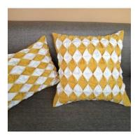 China Cushion High-end pure hand-fold nail beads decorative pillow cases cushion cover on sale