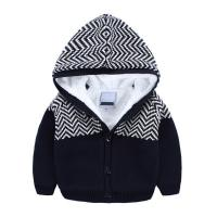 China Fashion design kids knitted jacket boys hoodies winter coat on sale