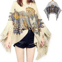 Quality Stylish design loose plus szie cloak women knitted pullover sweater poncho wholesale