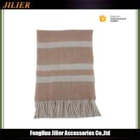 Quality 2016 wholesale classic 100% acrylic wrap knitted stripe tassel scarf Manufacturers wholesale