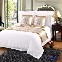 China Hot sale high quality elegant Bed runner and cushion cover for hotel on sale
