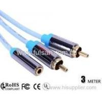 China RCA Y Cable 3.5mm Female to 2RCA Cable 3m/10ft on sale