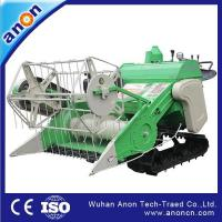 Quality ANON 4LZ-0.9LB rubber track riding type mini rice paddy wheat combine harvester wholesale