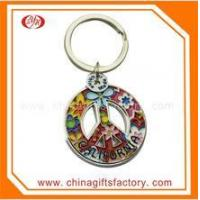 Quality high quality design your own zinc alloy metal house shaped keychain wholesale
