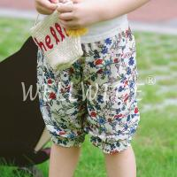 Floral Printed Chiffon Material Little Girls Short Pants Wellwide W0501