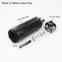 China Universal carbon fiber two brother exhaust muffler on sale