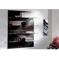 China Tempered Clear Corner Glass Shelves For Book Office Bedroom on sale