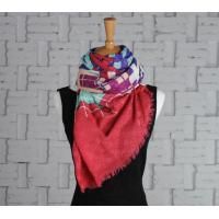China wool and silk scarves Screen Printing Silk Wool Scarf on sale
