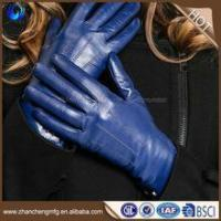 Quality ladies winter plain style fashion colorful cute sheepskin gloves womens leather gloves importers wholesale