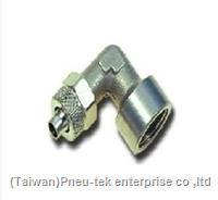 China BSPT Elbow Female Adaptor Rapid Push-over Tubing Fittings on sale