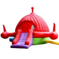 China Pink Jet Aircraft Bounce House on sale