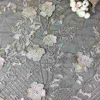 Quality Wholesale Embroidered White Wedding Lace with Polyester, Various Colors are Accepted wholesale