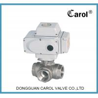 Quality Brass Valve Motorized 3 way ball wholesale