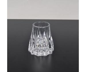 Cheap tree stump shaped glass candle container for sale