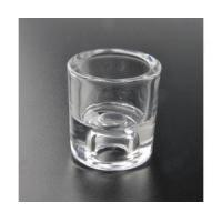 Quality transparent tea light glass with thick bottom wholesale